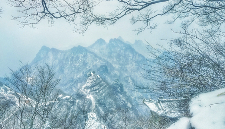 十堰下雪了!武当山仙气十足