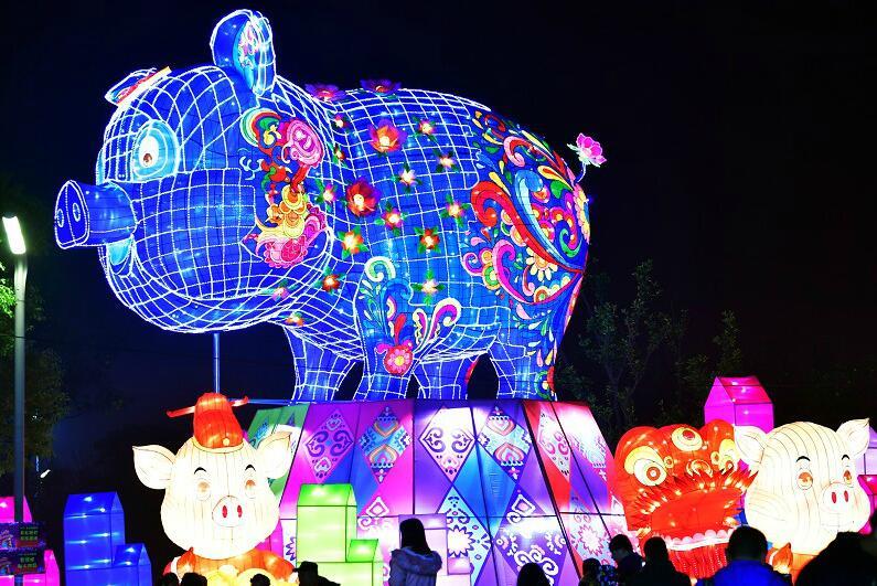 武汉园博园灯会亮灯了!