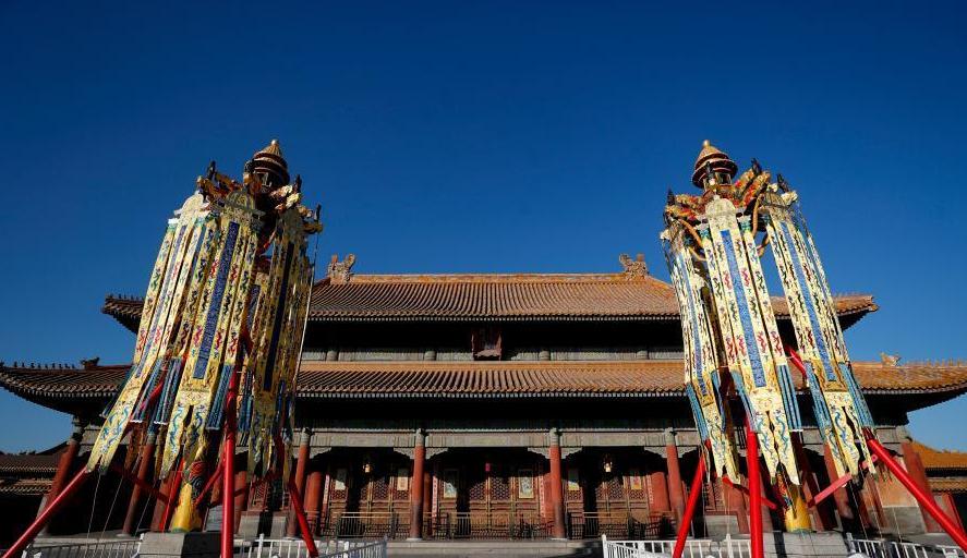 """故宫博物院首次复原""""天灯""""""""万寿灯""""迎己亥春节"""