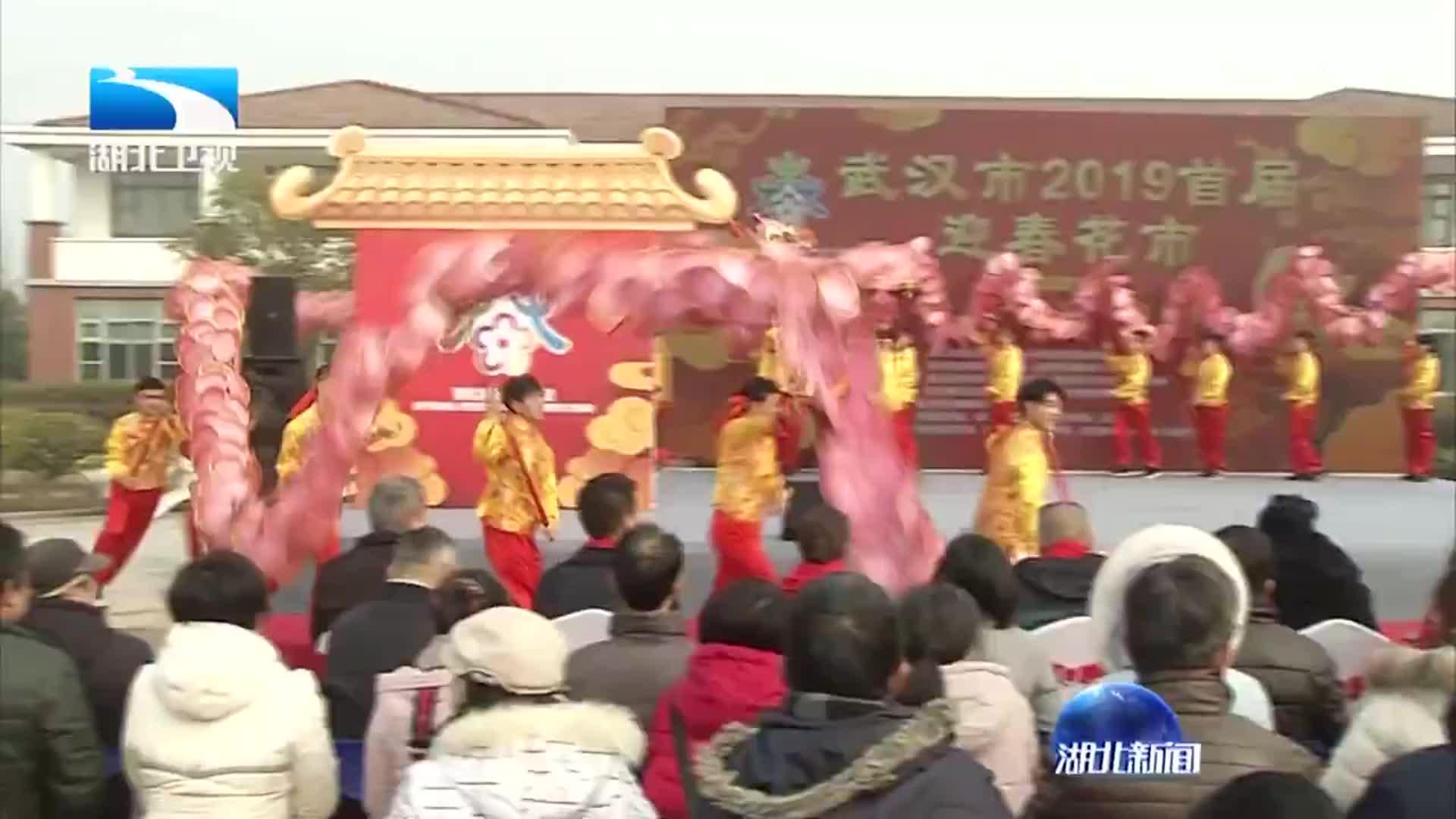 武汉市首届迎春花市今天开幕