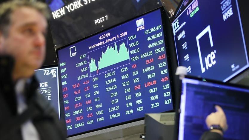 纽约股市三大股指9日上涨