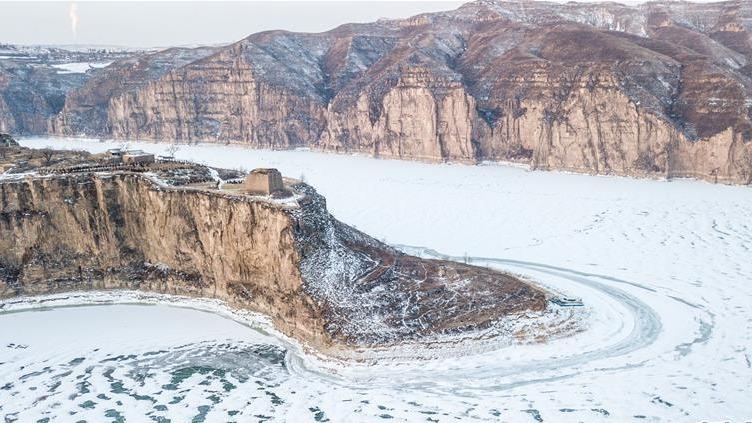 黄河老牛湾雪景