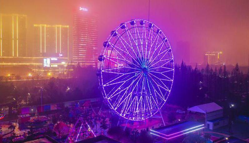 武昌和平公园魔幻璀璨灯海艺术节开幕