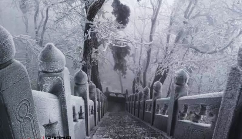 雪来了!十堰武当山一下美成了玄岳