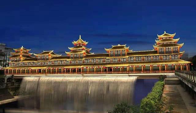 助力打造5A城区 恩施州城清江上建大型喷泉