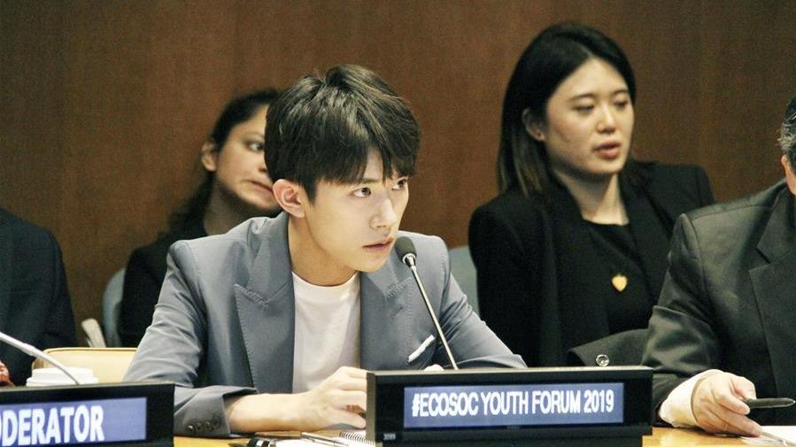 世卫组织中国健康特使易烊千玺为促进青少年健康发声