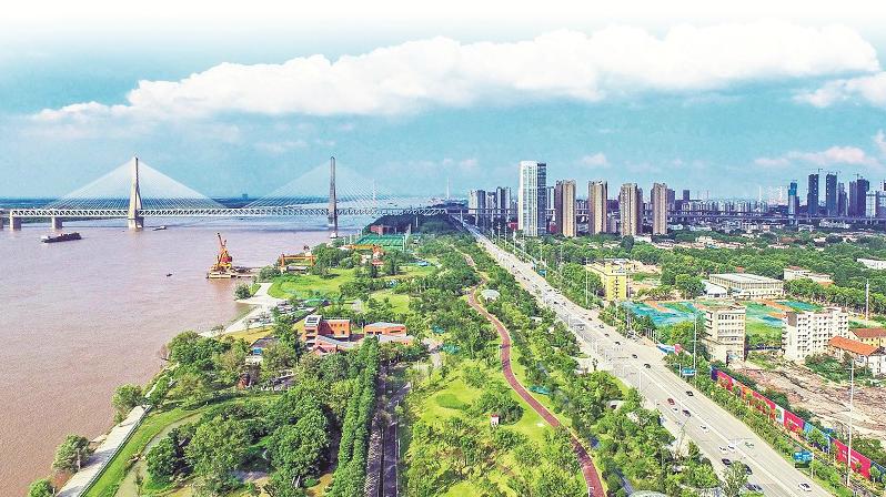 """绿色发展 生态宜居——青山江滩的""""蝶变""""效应"""