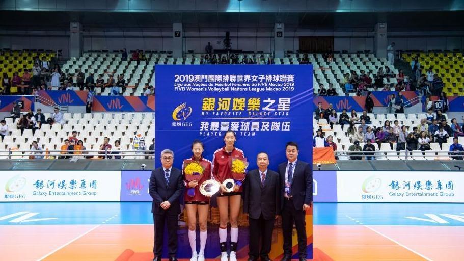 中国女排力克韩国夺世界女排联赛澳门站冠军