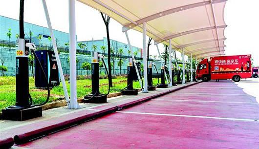 湖北省最大物流充电站在武汉投运