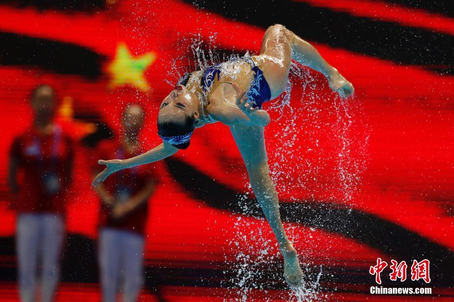 光州世锦赛:花样游泳集体自由组合中国队摘银
