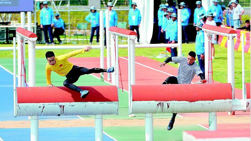 军运会举行海军五项测试赛