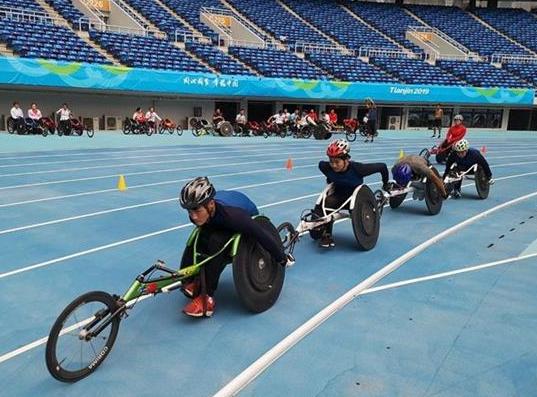 湖北代表团出征全国第十届残运会