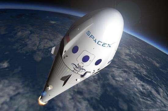 """太空旅游指日可待?SpaceX将发射""""星际飞船""""(图)"""