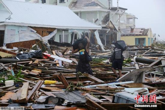 """""""飓风""""多里安""""席卷巴哈马 暂有约2500人失踪"""