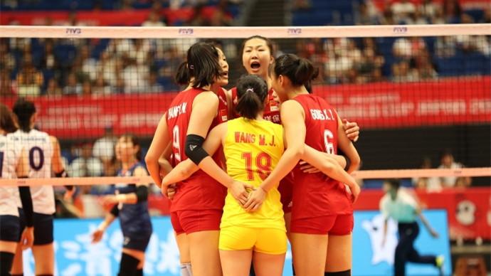 中国女排3:0韩国女排 赢得2019年女排世界杯首战胜利
