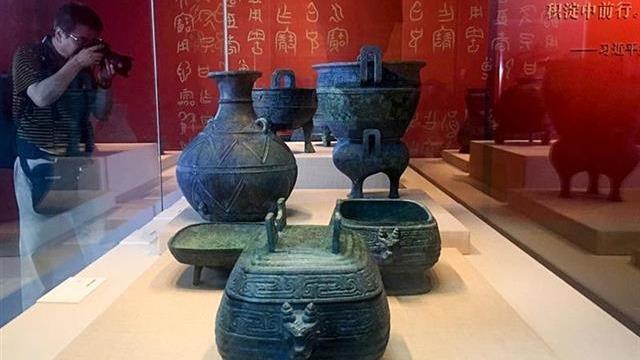 流失文物回归展在京开幕,湖北青铜组器归国后首秀