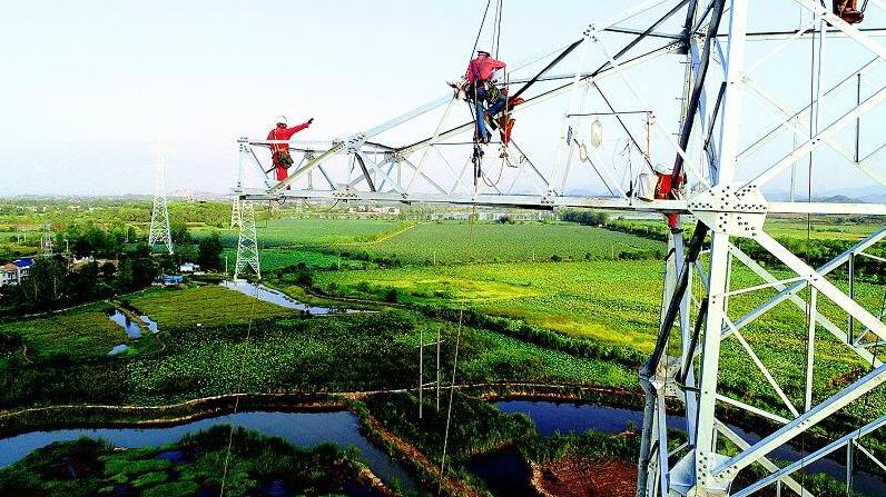鄂州新建首条500千伏输电线路