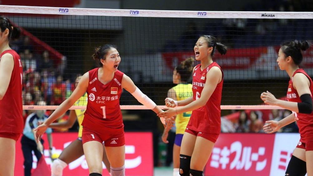 中国女排3:2逆转巴西获6连胜