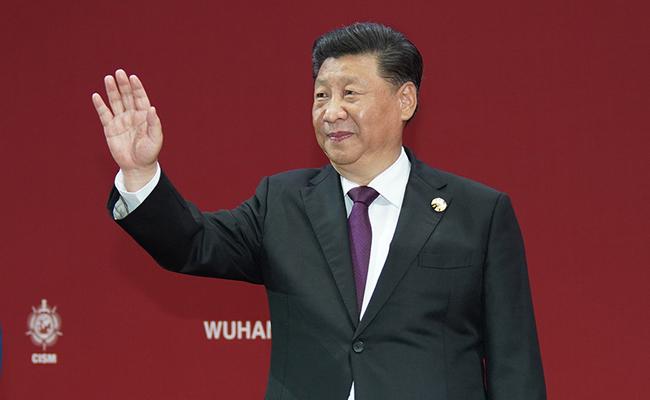 习近平出席第七届世界军人运动会开幕式并宣布运动会开幕