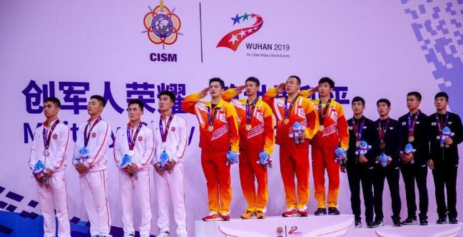 武汉军运会 中国男乒获得男子团体冠军