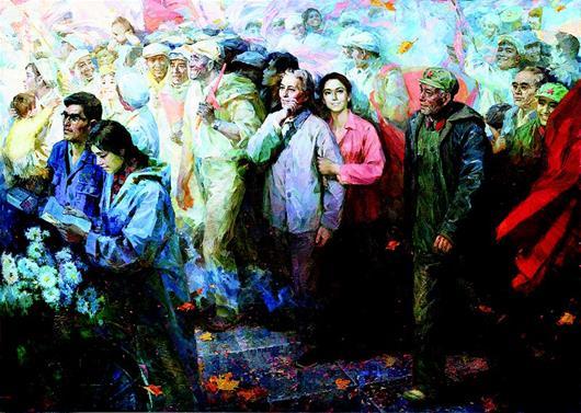 在湖北美術館感受新中國70年溢彩流光