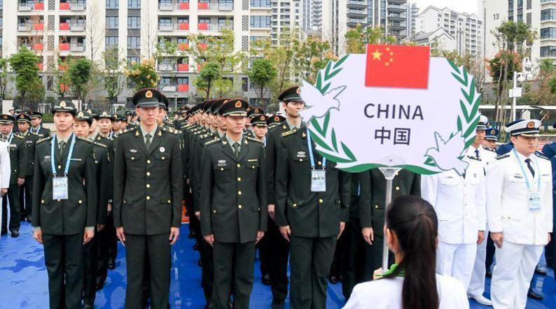 中國代表團入住武漢軍運會運動員村