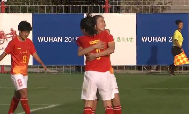 中國女足軍運會首勝 楊麗制造精彩時刻