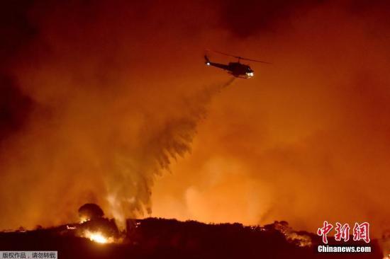 """""""美加州为防野火进行大规模停电 逾200万人受影响"""