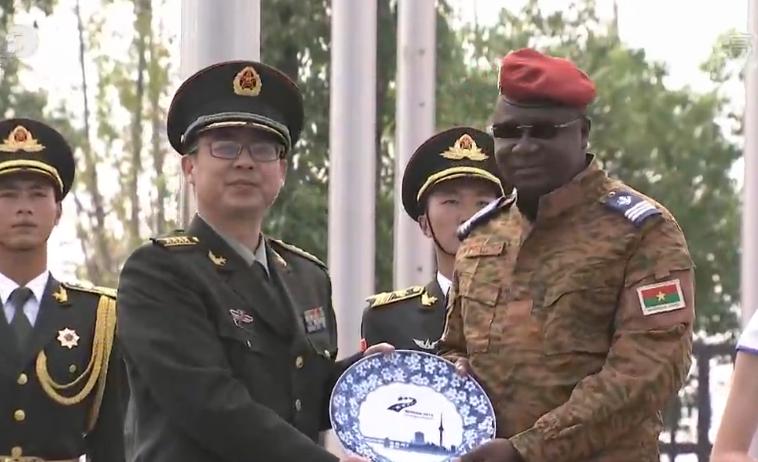 軍運村舉行參賽國代表團升旗儀式