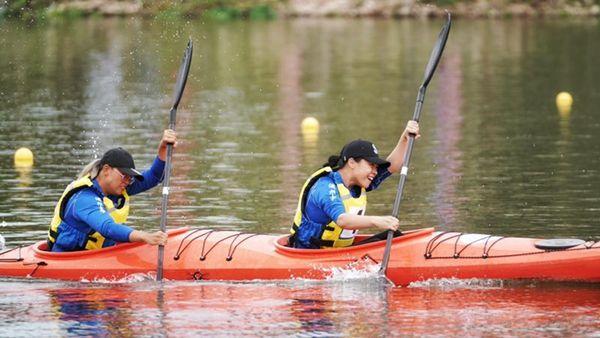 第四届大学生皮划艇锦标赛开赛