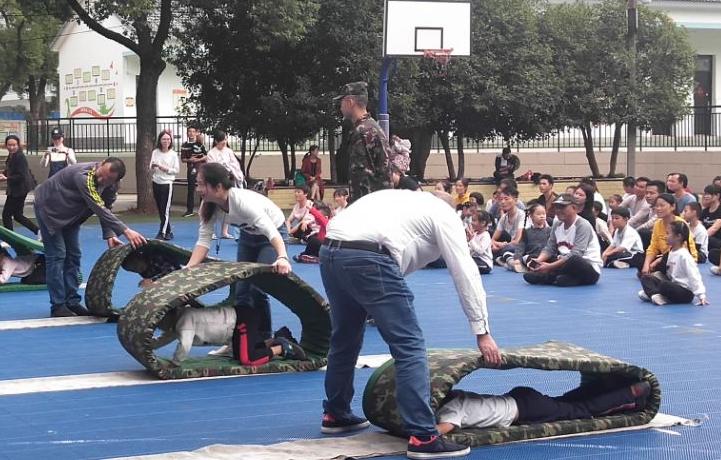 """武汉市英格中学一分校举行""""我与军运同行""""亲子活动"""