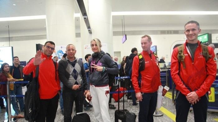 军运会运动员和嘉宾陆续抵达天河机场