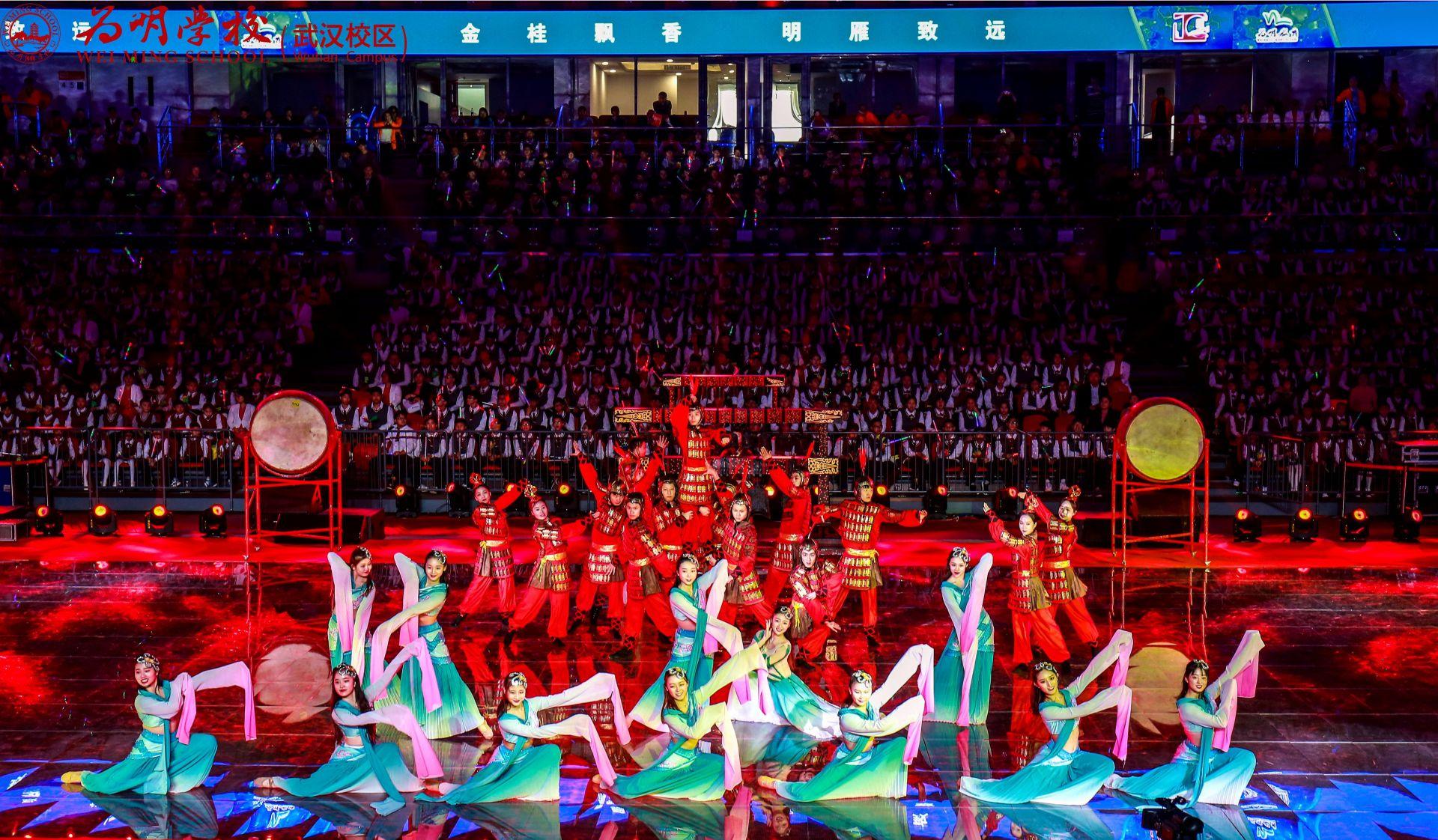 武汉为明学校举行十周年庆典演出 两千师生同台展示