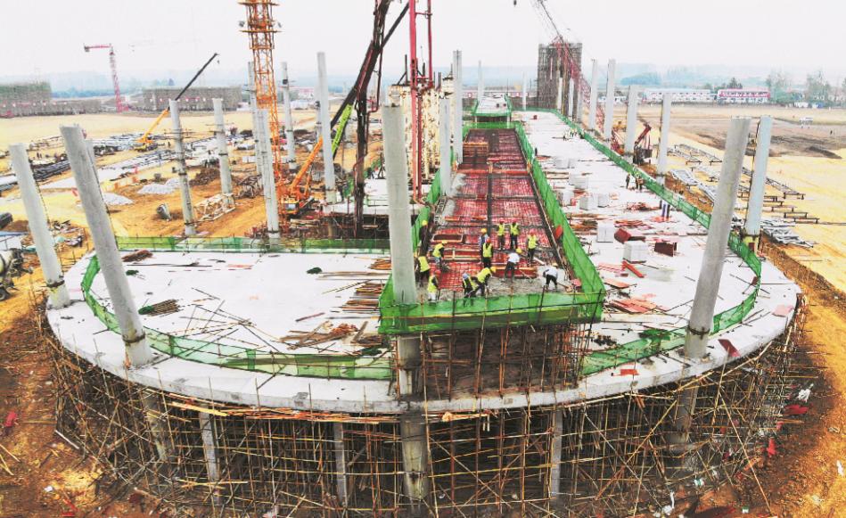 荆州机场航站楼项目 进展顺利