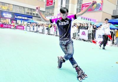2019武汉全民健身运动会 轮滑比赛 又帅又酷