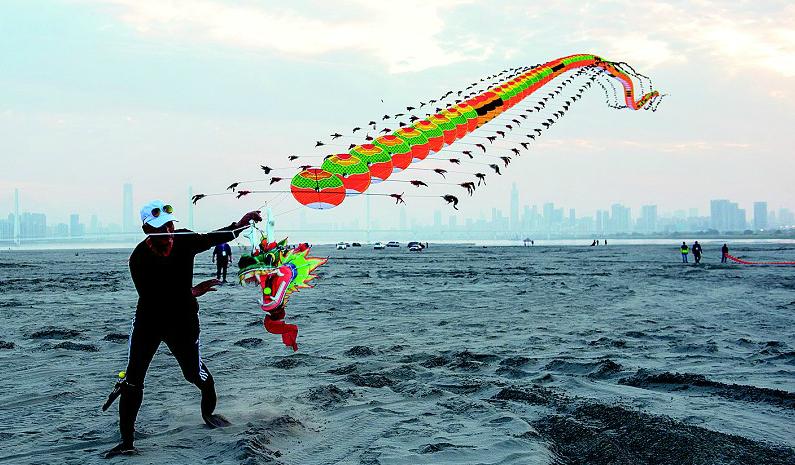 湖北風箏好手會戰天興洲