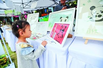 自然市集深受孩子们欢迎 长江日报记者许魏巍 摄