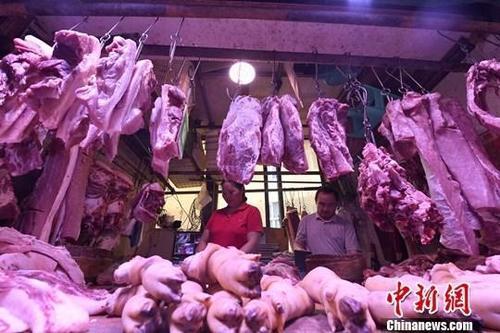 农业农村部监测显示:猪肉批发价格连续三周下降