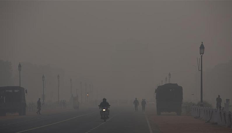 印度:雾霾中的新德里