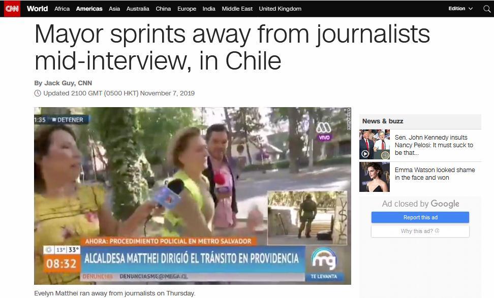 冲刺跑走!智利一市长解锁逃避采访新技能