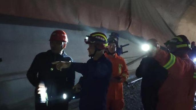 云南在建隧道事故遇難人數上升至6人 仍有6人被困