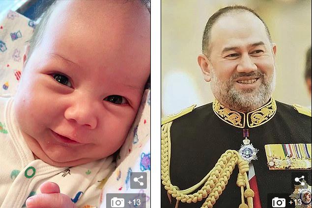 """""""俄选美皇后晒娃""""证清白"""" 马来西亚前国王反击:孩子不像我"""