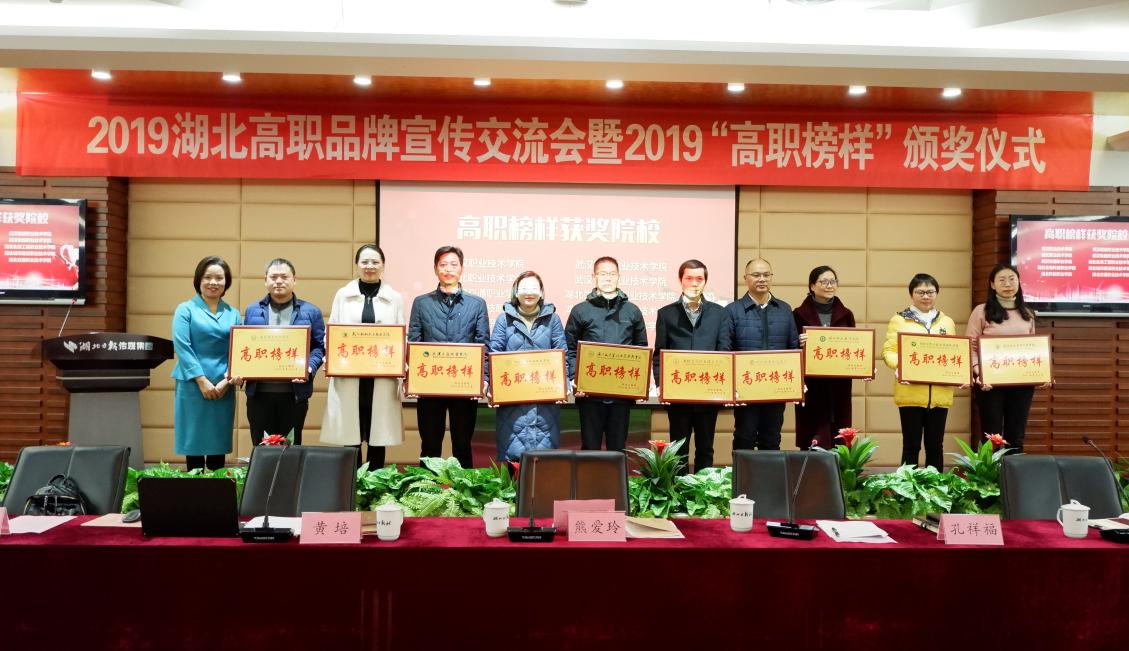 2019湖(hu)北高職品牌宣(xuan)傳交流會暨高職榜(bang)樣表彰會舉行