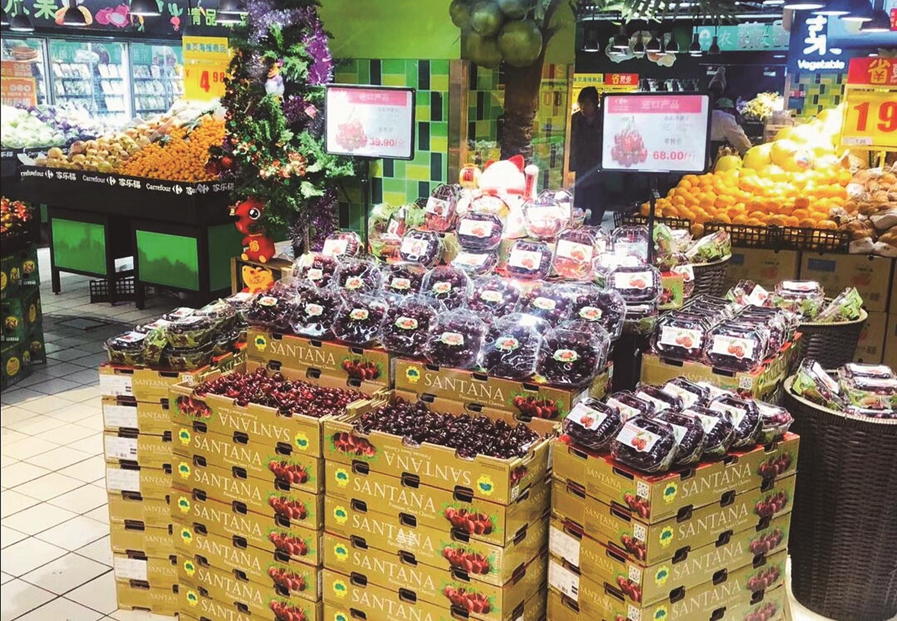 贵族水果车厘子今年有望降身价 首批进口果已到汉