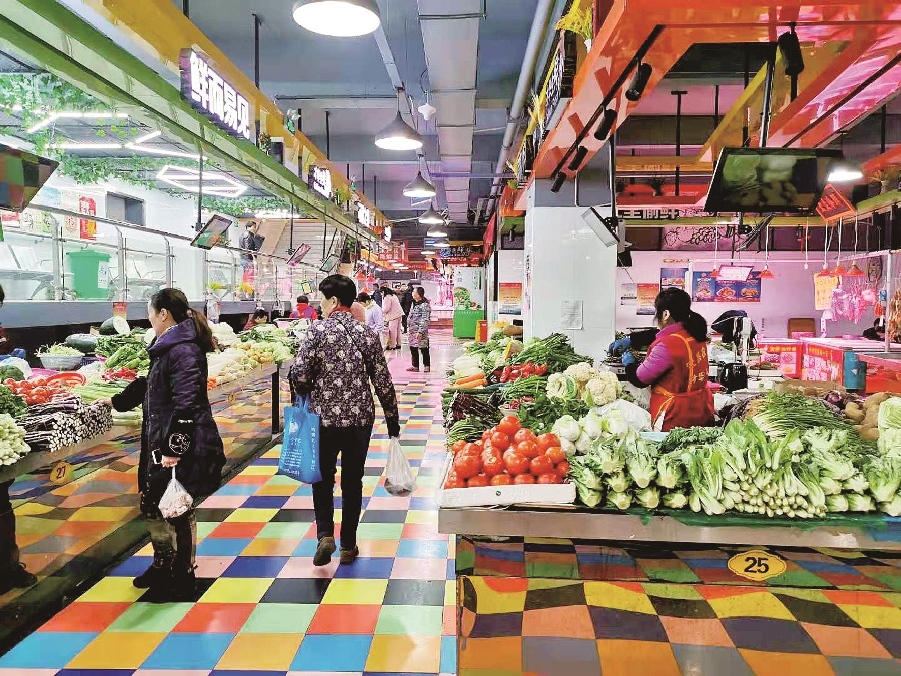 武漢多家農貿市場變身智慧菜場