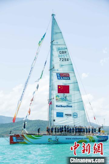 克利伯2019-20环球帆船赛参赛船只奔赴海南三亚