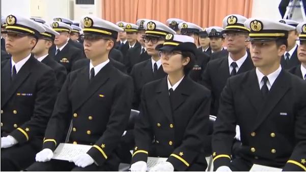 日本将迎来首位女潜艇员!26岁女自卫官入校宣誓