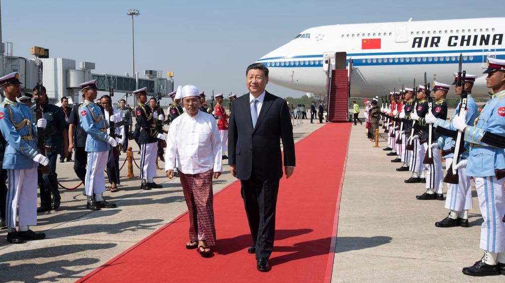 高清大图|习主席新年首访 缅甸最高规格迎接!