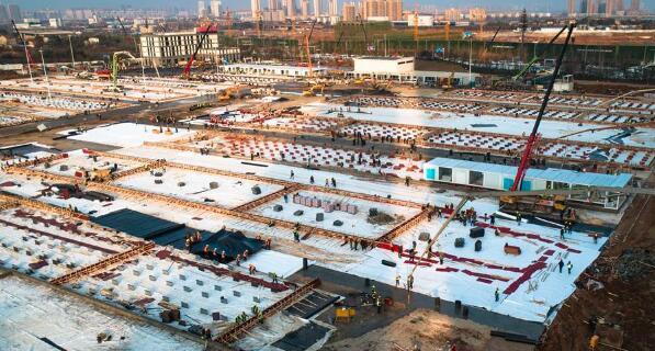 武汉雷神山医院总体建设进度完成40%