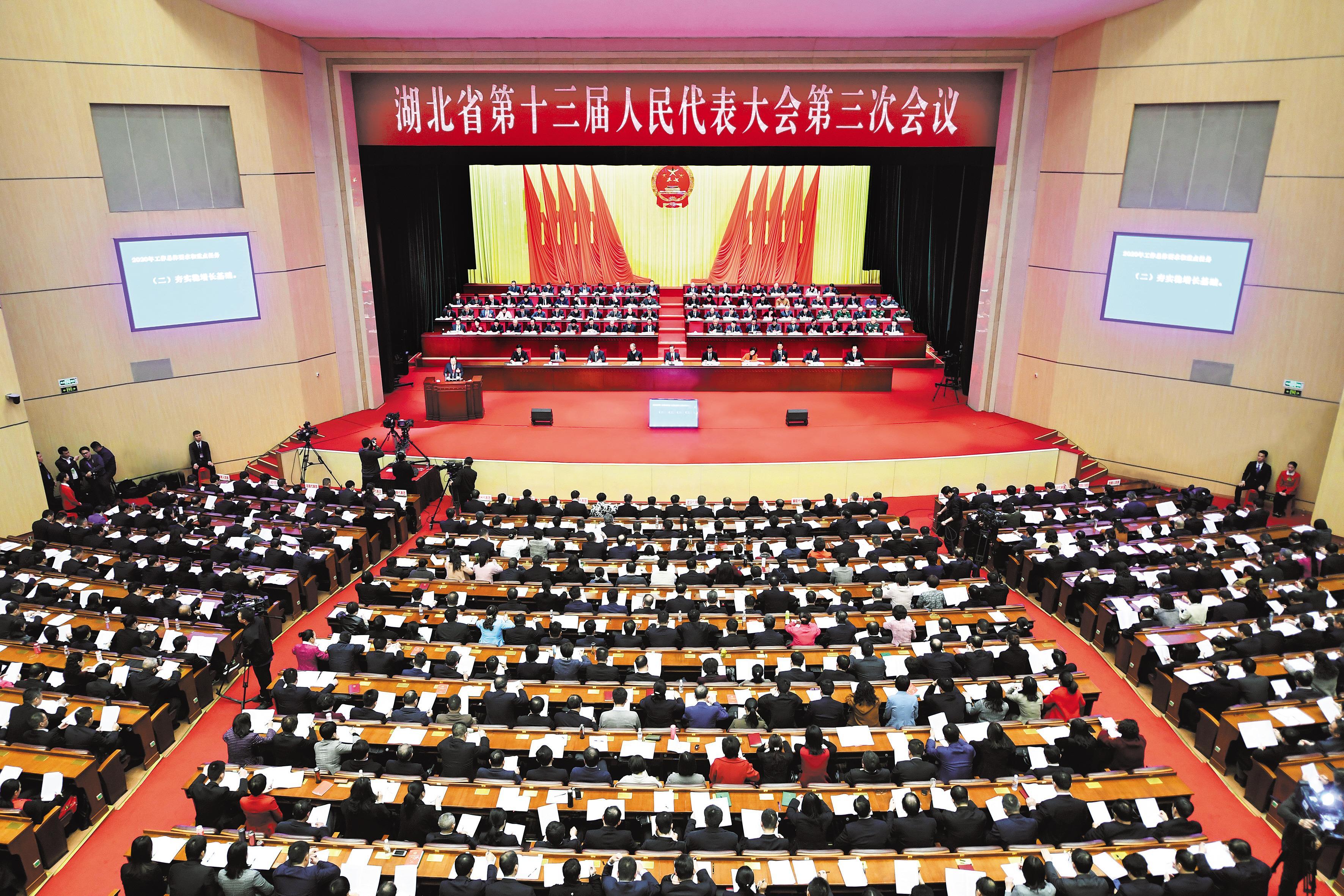 省长王晓东代表省政府作工作报告